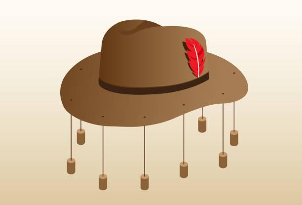 Vectores de Sombrero Akubra y Illustraciones Libre de Derechos - iStock 65e637f6977
