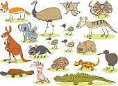 Australian animal kids drawing
