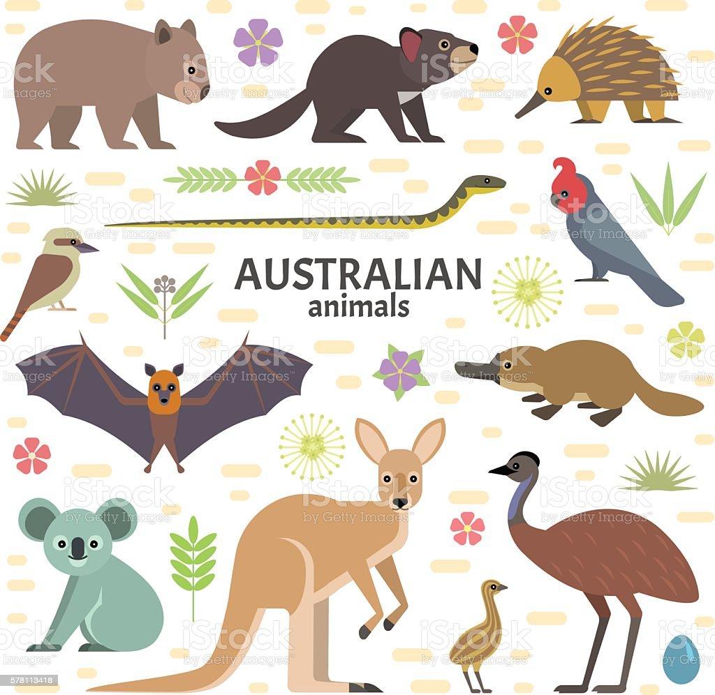 オーストラリア動物 ベクターアートイラスト