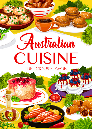 Australian cuisine meals menu cover
