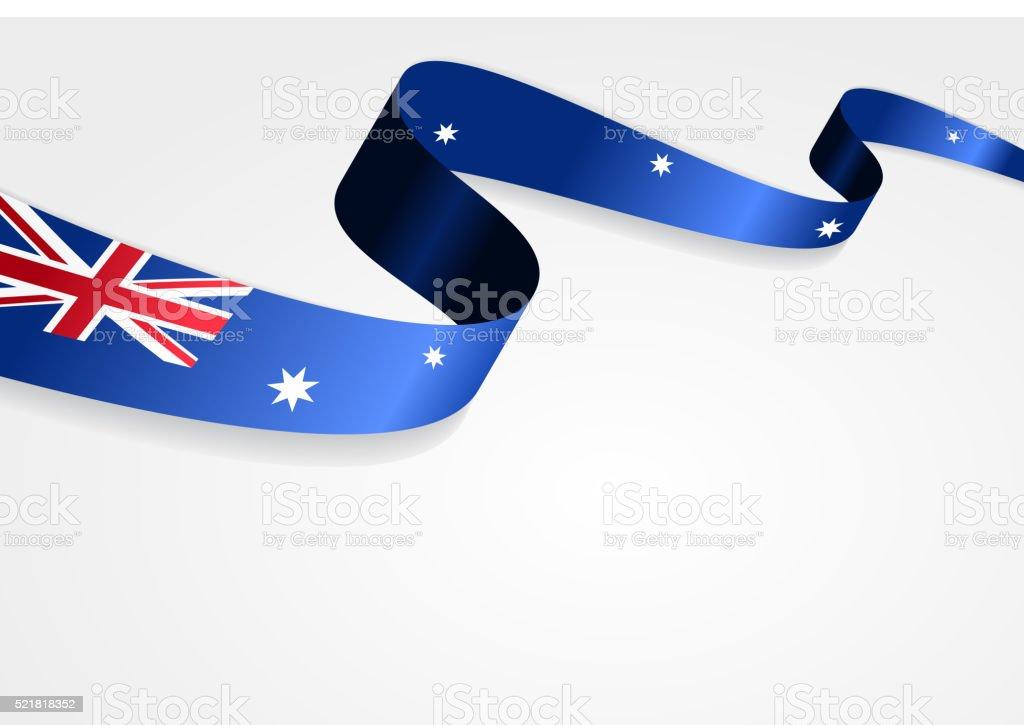 オーストラリア国旗の背景。ベクトルイラスト ベクターアートイラスト