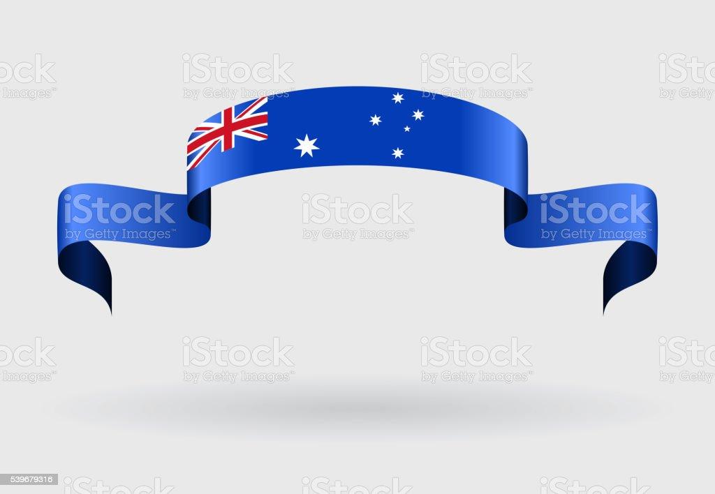 オーストラリア旗の背景ます。ベクトルイラストレーションます。 ベクターアートイラスト