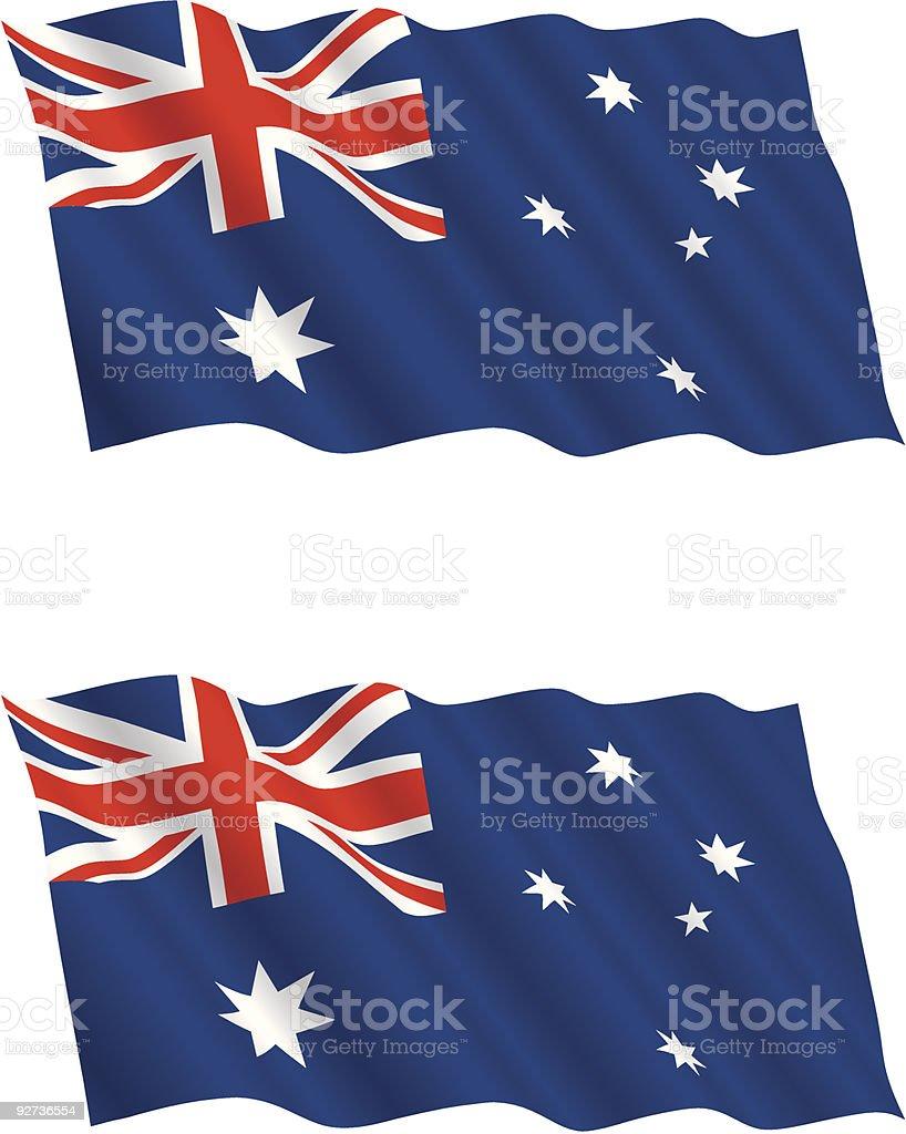 australian flag flying in the wind stock vector art 92736554 istock
