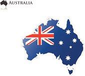 Australian Flag - Map