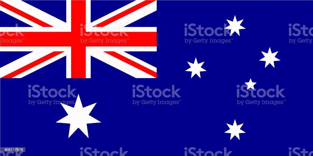オーストラリアの旗のベクトル - オーストラリア国旗イラスト ベクターアートイラスト