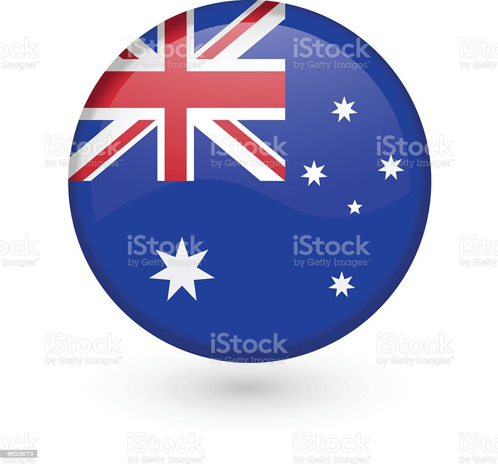 Australian flag vector button royalty-free stock vector art