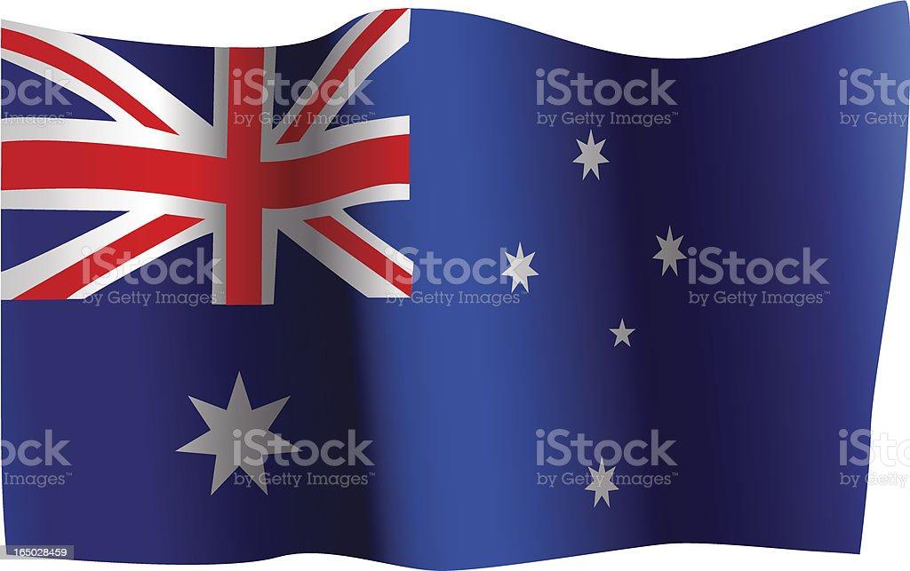Australian Flag royalty-free stock vector art