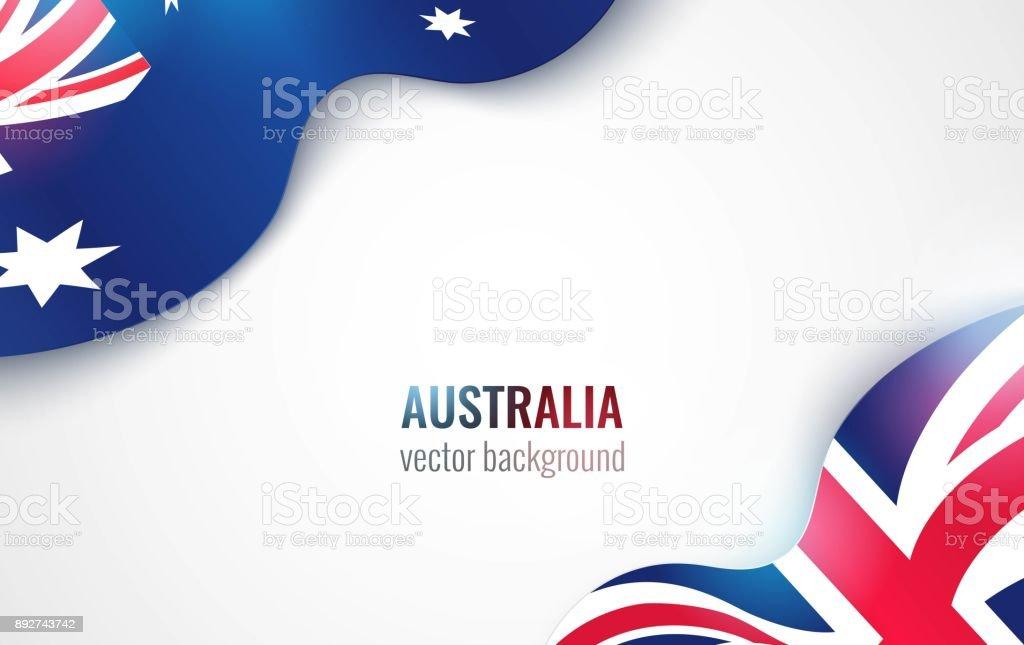 Australian flags isolated on white. Australian flags isolated on white. Australia day abstract background. Vector illustration ANZAC Day stock vector