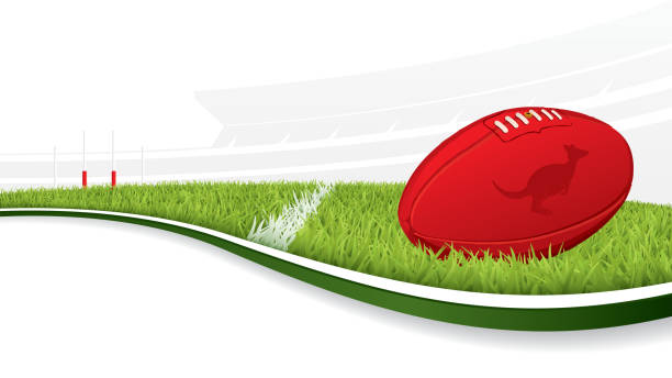 Australian Football background vector art illustration