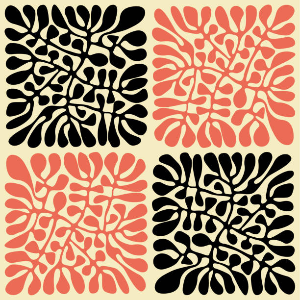 Australian leaves (Handmade Pattern) Seamless pattern based on hand drawn leaf sketches related to traditional art. natural pattern stock illustrations