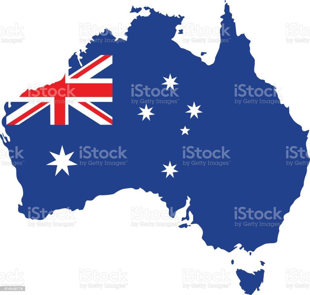 オーストラリアのマップ ベクターアートイラスト