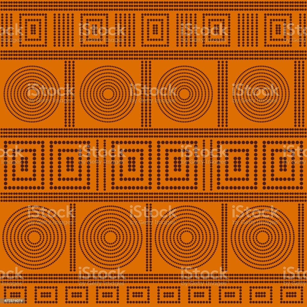 Australian pattern vector vector art illustration
