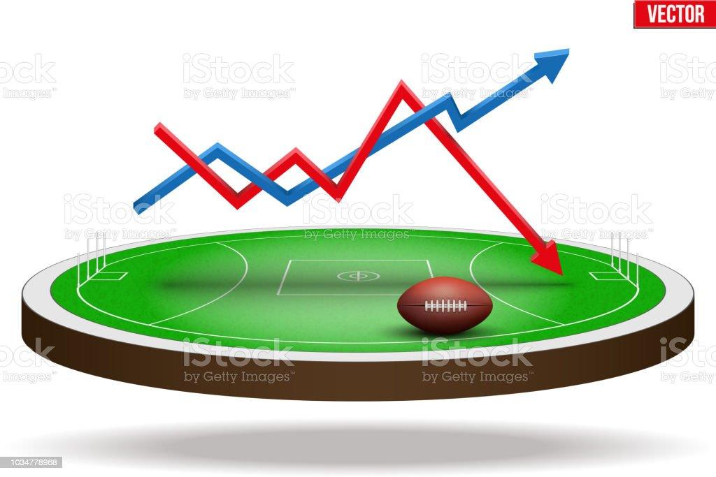 3068a605e4 Ilustração de Estádio Do Campo De Futebol Australiano e mais banco ...