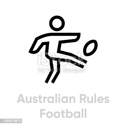 istock Australian Rules Football sport icons 1263019870