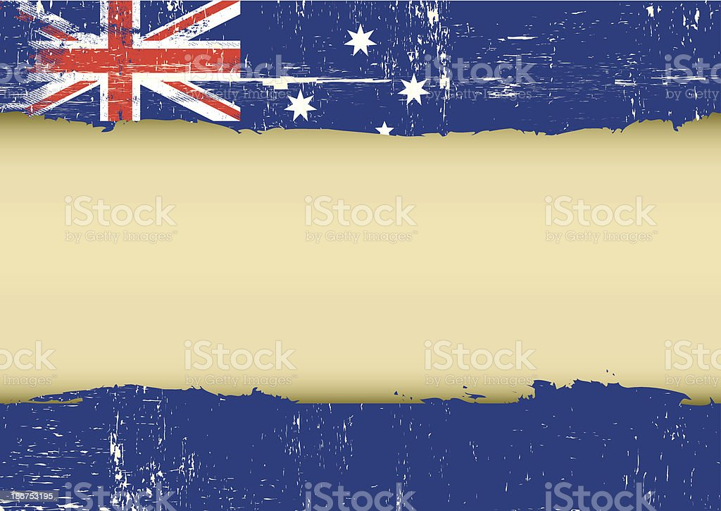 Australian scratched flag vector art illustration