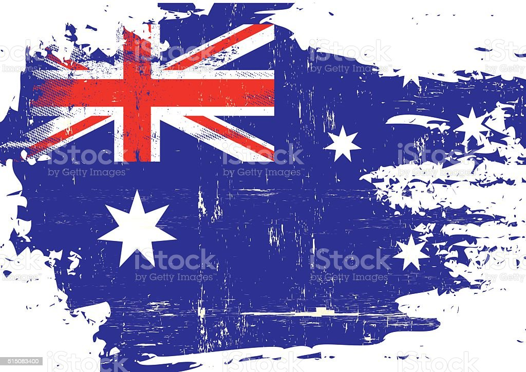 オーストラリアスクラッチフラグ ベクターアートイラスト