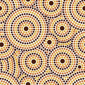 Australian tribes dot pattern vector seamless