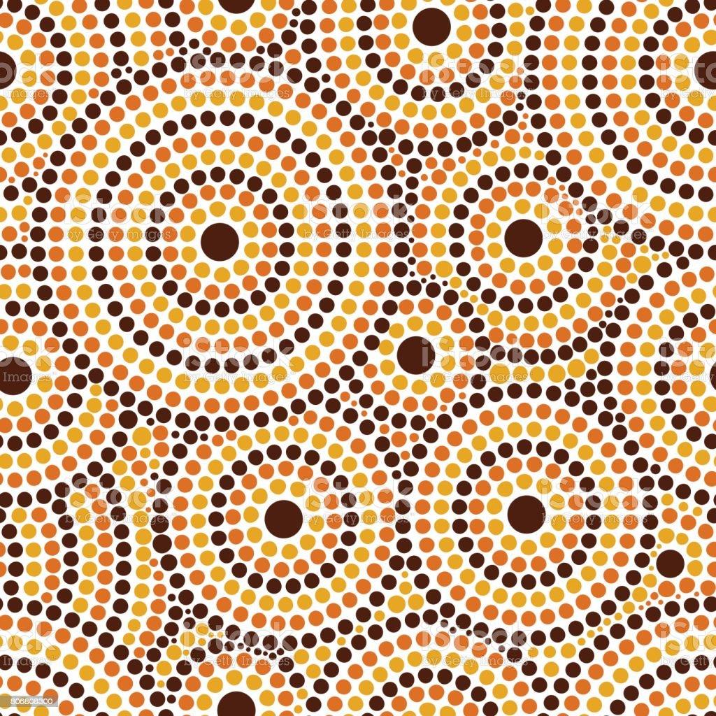 Australian tribos ponto padrão vector sem emenda - ilustração de arte em vetor