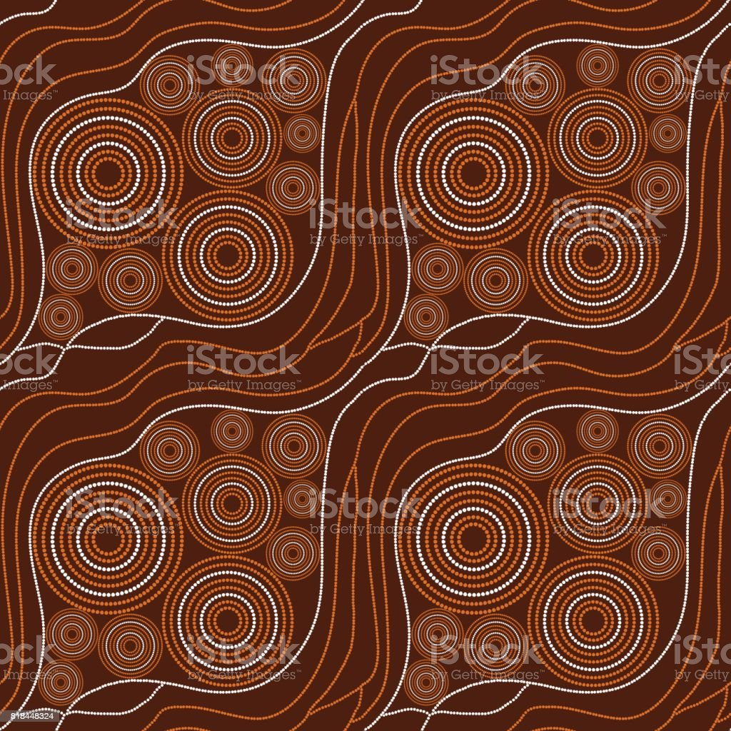 Australian tribes pattern vector seamless vector art illustration