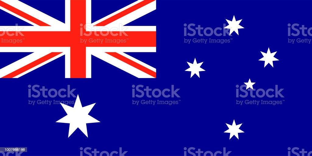 Australian vector bandeira. Union Jack com estrelas - ilustração de arte em vetor