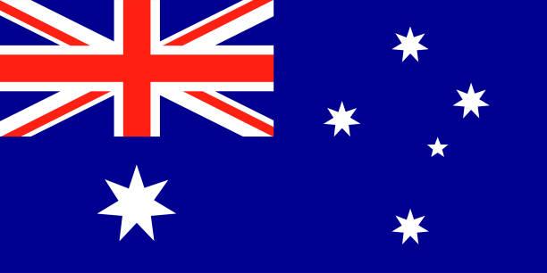 ilustrações, clipart, desenhos animados e ícones de australian vector bandeira. union jack com estrelas - bandeira union jack