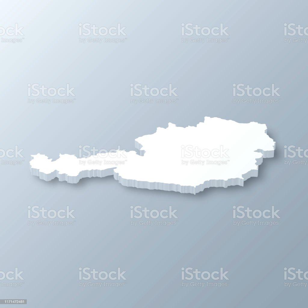 3d Karte Osterreich.Osterreich 3d Karte Auf Grauem Hintergrund Stock Vektor Art
