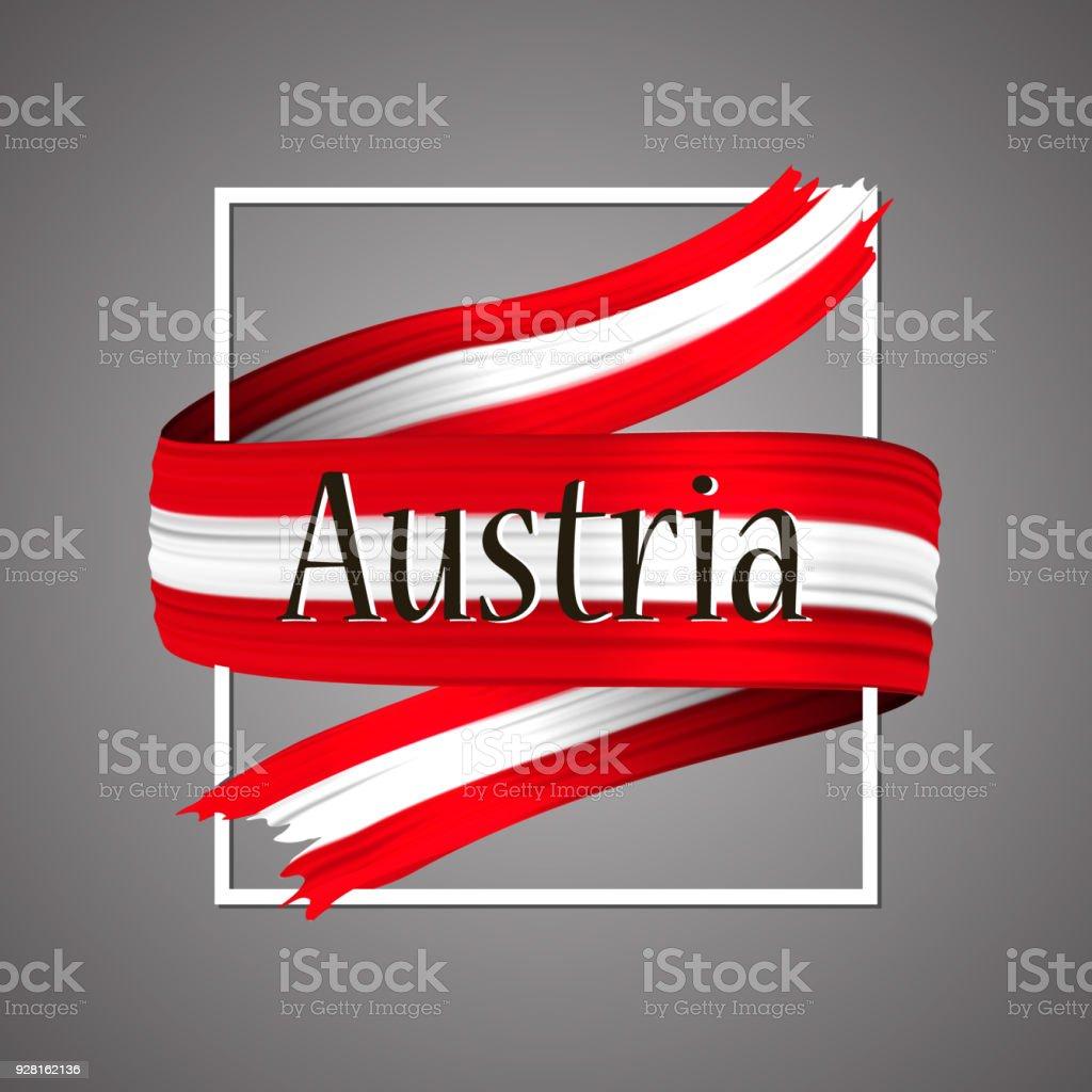 Österreich Flagge Offiziellen Nationalfarben Österreichischen 3d ...