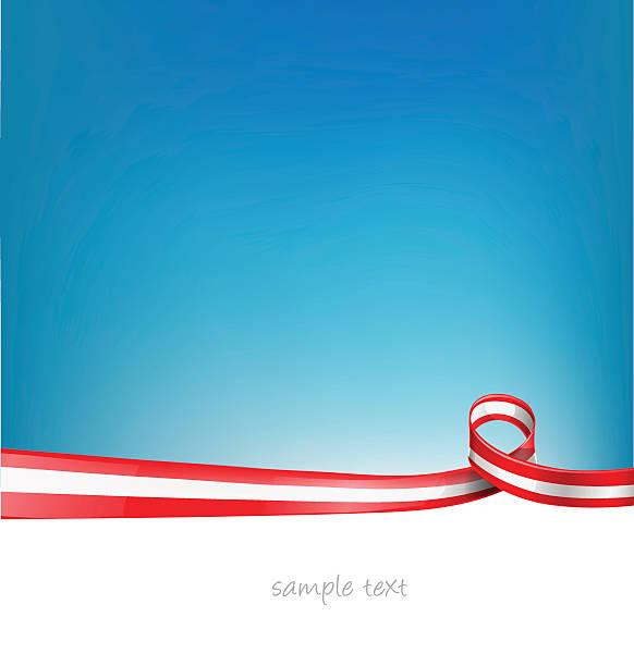 austria flag on background vector art illustration