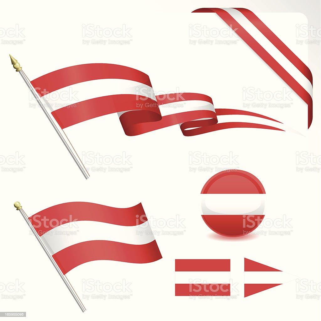 Austria Flag Set royalty-free stock vector art