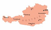 Austria isolated map