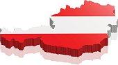 austria map 3d