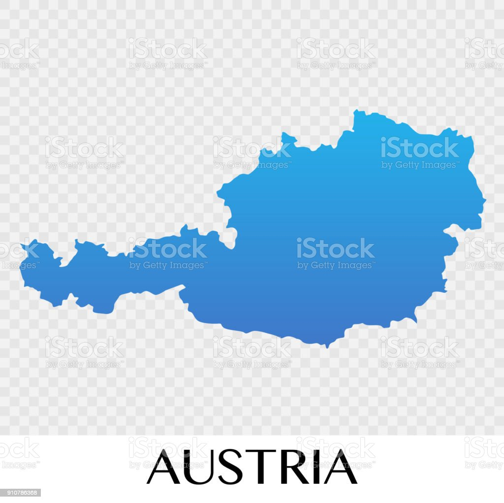 Austria map in Europe continent illustration design vector art illustration