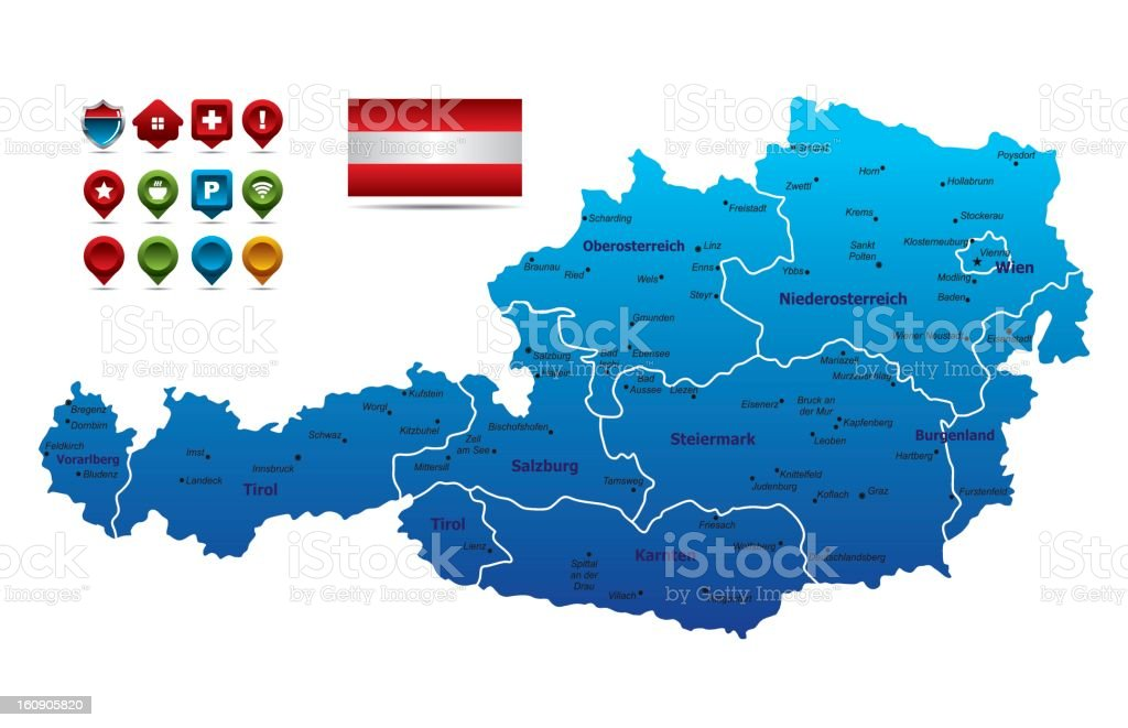 Austria Map royalty-free stock vector art