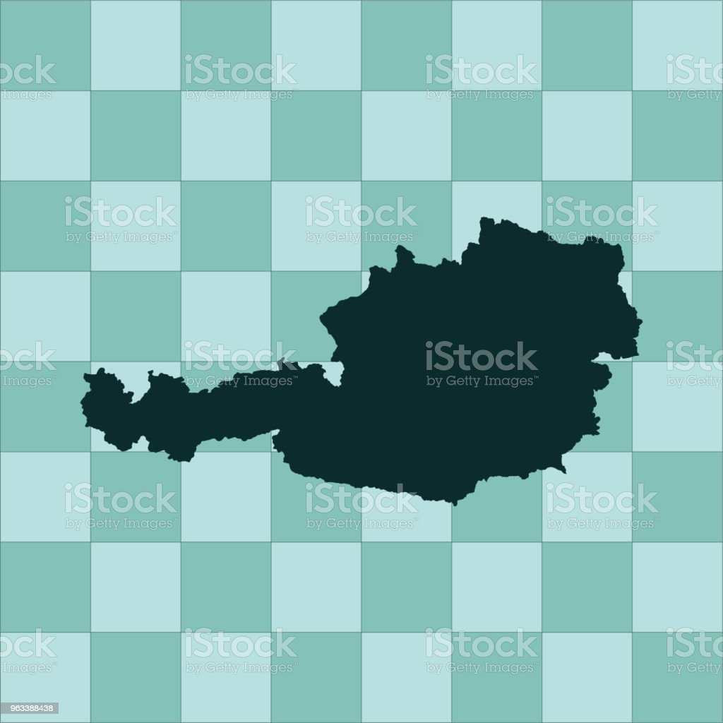 Austria map - Grafika wektorowa royalty-free (Abstrakcja)