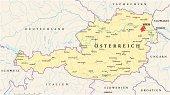 Austria Political Map