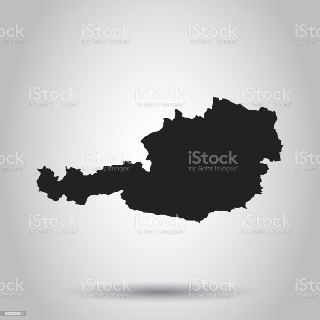 Austria vector map black icon on white background stock vector art austria vector map black icon on white background royalty free austria vector map gumiabroncs Image collections
