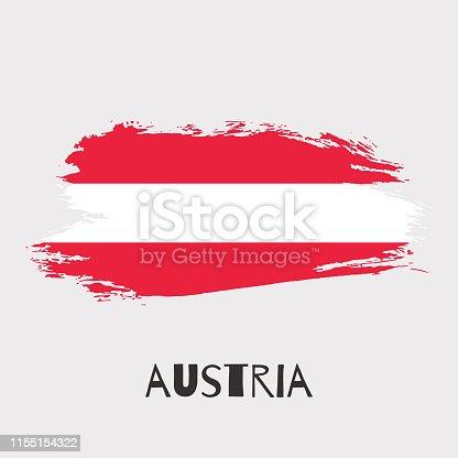 944453740 istock photo Austria vector watercolor national country flag icon 1155154322