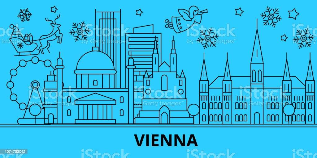 Christmas In Austria Holidays.Austria Vienna Winter Holidays Skyline Merry Christmas Happy