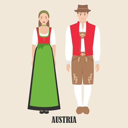 Austrians in national dress