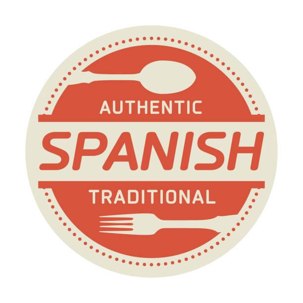 authentic spanish cuisine - fine dining stock illustrations, clip art, cartoons, & icons