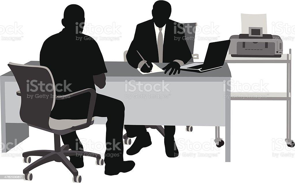 Authority vector art illustration
