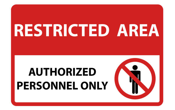 Authorized personnel only security - illustrazione arte vettoriale