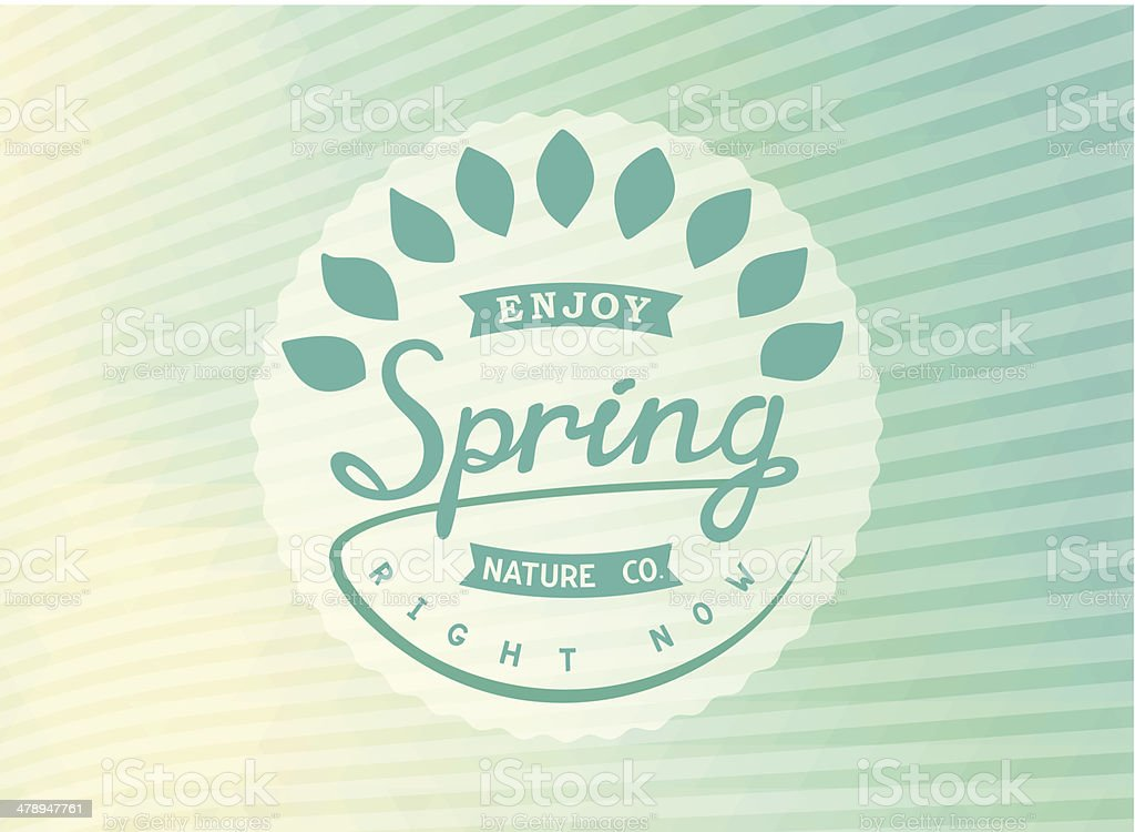Author's design label spring royalty-free stock vector art