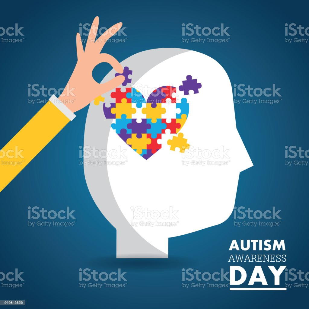 autism awareness day card health medical invitation