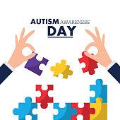 autism awareness day card solidarity event