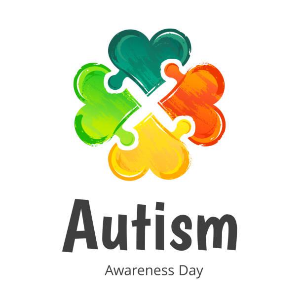Autism Awareness Day. Illustration on white background vector art illustration