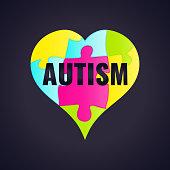 Autism awareness frame poster