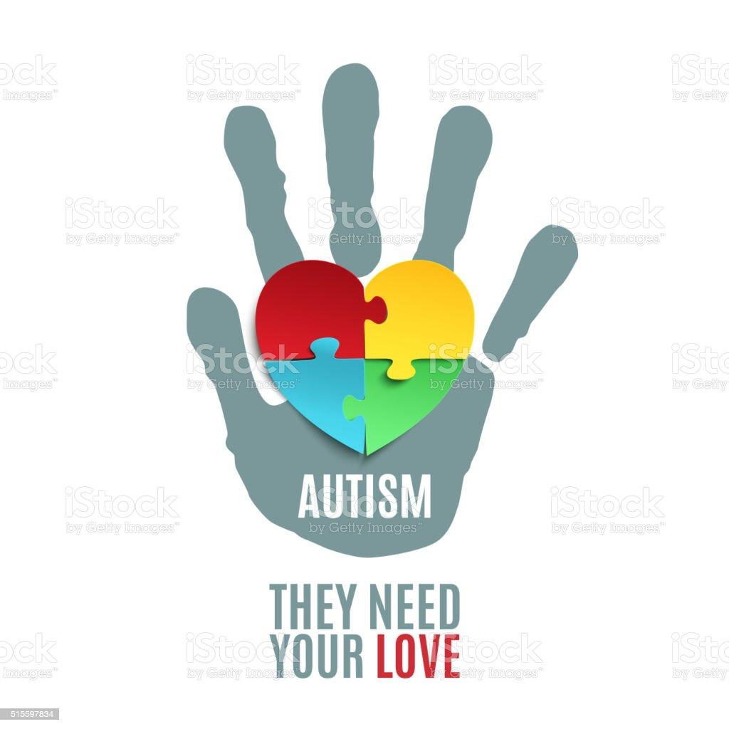 Modelo de cartaz da Consciencialização do Autismo. - ilustração de arte em vetor