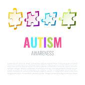 Autism awareness puzzle poster
