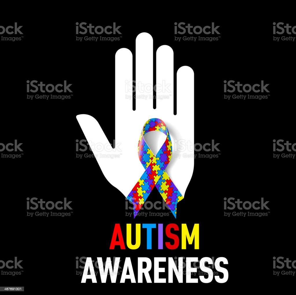 Autism Awareness sign vector art illustration